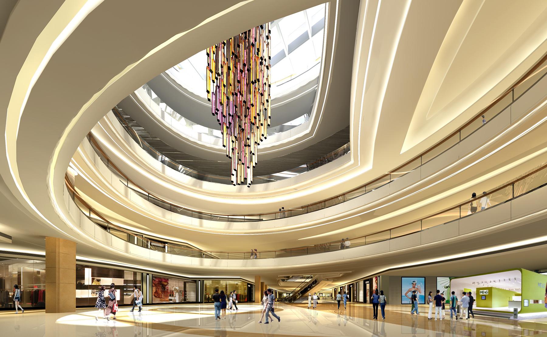 商场大厅效果图手绘
